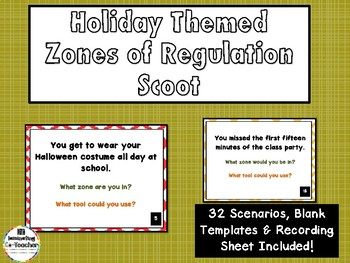 Zones of Regulation Scoot Game - School Holiday Edition