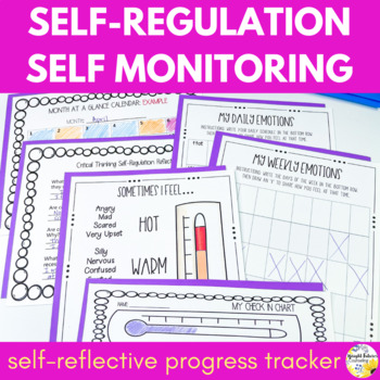 Zones of Regulation Self Monitoring Packet