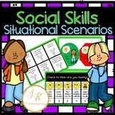 Zones of Regulation-Social Skills Situational Scenarios PLUS Check In!