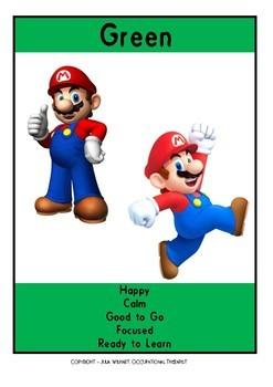 Zones of Regulation - Super Mario Bumper Pack and Emotion Gauge!