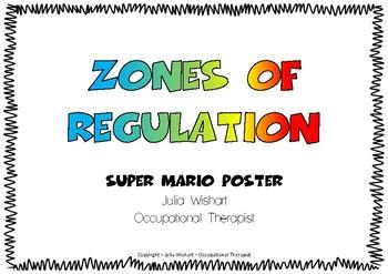 Zones of Regulation - Super Mario Poster