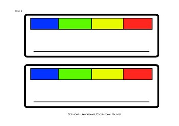 Self Regulation Tools: Table strips 'Check In Feelings/Emotions'