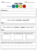 Self Regulation Think Sheet