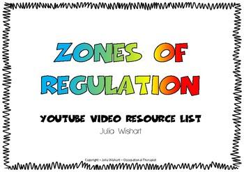 Zones of Regulation - YouTube Video Resource List