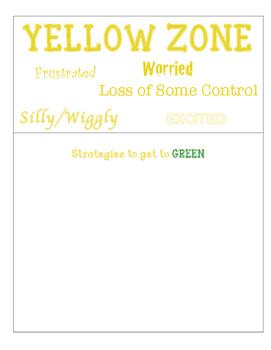 Zones of Regulation posters