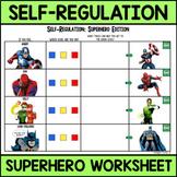 Self-Regulation Superhero Worksheet