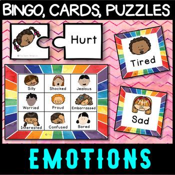 Self regulation Emotions: ZONES Game Bundle - Bingo, Charades, Puzzles + More!
