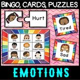 Self Regulation Tools: Emotion Game Bundle - Bingo(lotto), Charades, puzzles etc