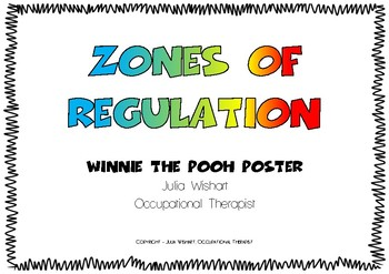 Zones of regulation - Winnie the pooh Poster