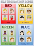 Zones of self regulation posters and choice boards