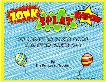 Zonk! Splat! Kapow! Addition Card Game (Facts 0-4)