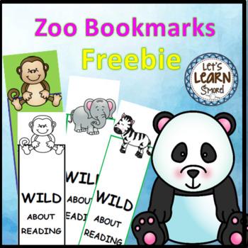 Zoo Animals Activities Bookmarks (Free)