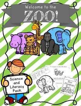 Zoo Unit {Zoo field trip, Zoo Packet, Zoo Passport, Zoo Word Wall Words}
