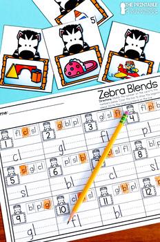 Kindergarten Zoo Centers for Math and Literacy Activities