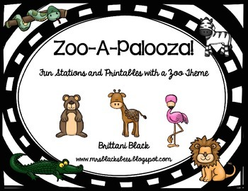 Zoo-A-Palooza~ Stations and Printables