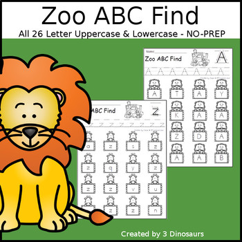 Zoo ABC Letter Find