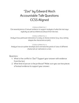 """Zoo"" Accountable Talk"