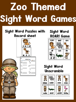 Zoo Activities: Sight Words, Math, Writing, and more! #christmasinjuly18