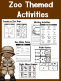 Zoo Activities: Sight Words, Math, Writing, and more! #chr
