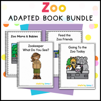 Zoo Adapted Book Bundle: 2 Zoo Adapted Books for Special Education