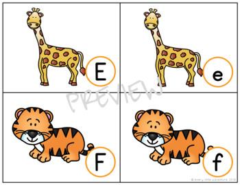Zoo Alphabet Match - Uppercase & Lowercase