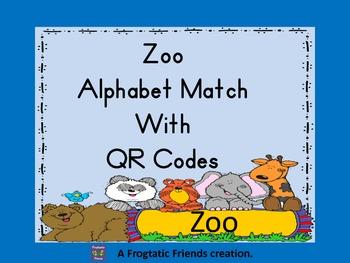 Zoo Alphabet Match with QR Codes