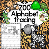 Zoo Alphabet Tracing pages
