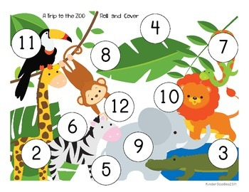 Zoo Animal Roll and Cover (1 or 2 Dice)