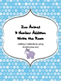 Zoo Animal 3 Number Addition