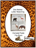 Zoo Animal Alphabet Letter Matching Flip Book. Special Education, Autism, P-K, K