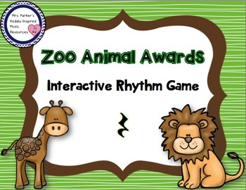 Zoo Animal Awards Rhythm Game: Rest