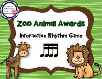 Zoo Animal Awards Rhythm Game: Sixteenth Notes