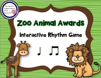 Zoo Animal Awards Rhythm Game: Ta Ti-Ti