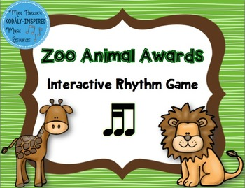 Zoo Animal Awards Rhythm Game: Tika-Ti