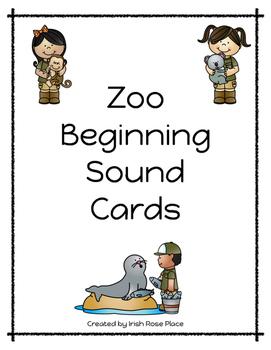 Zoo Animal Beginning Sound Cards