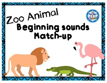Zoo Animal Beginning Sounds Match-Up