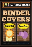 Binder Folder Covers Zoo Animals Style