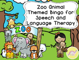 Zoo Animal Bingo for Speech Therapy