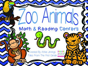 Zoo Animal Centers- Reading and Math