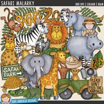 "Zoo Animal Clip Art: ""Safari Malarky"""