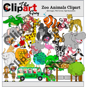 Zoo Animal Clipart (60 Images - The Clipart Guy)