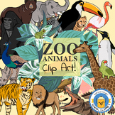 Zoo Animal Clipart - Katrina Keegan School Clip Art - 52 Clips!