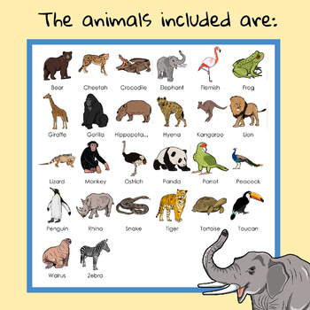 Zoo Animal Clipart - Katrina Keegan School Clip Art - 52 Clips!