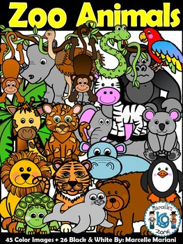 Zoo Animals Clip art- Zoo clipart bundle- Zoo animals clipart