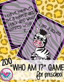 Zoo Animal Comprehension Activity