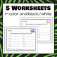 Zoo Animal Count On Strips and Worksheets - S