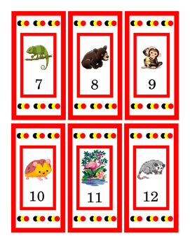 Zoo Animal Counting Cards Numbers 1 to 30 Print Twice for Matching Game 5 pages
