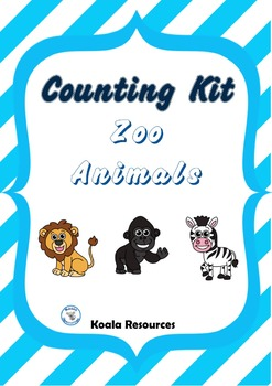 Zoo Animal Counting Kit Counting to 20 Center Activities