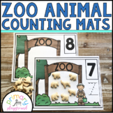 Zoo Animal  Counting Mats 1 - 20