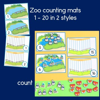 Zoo Animal Counting, Sequencing and Adding